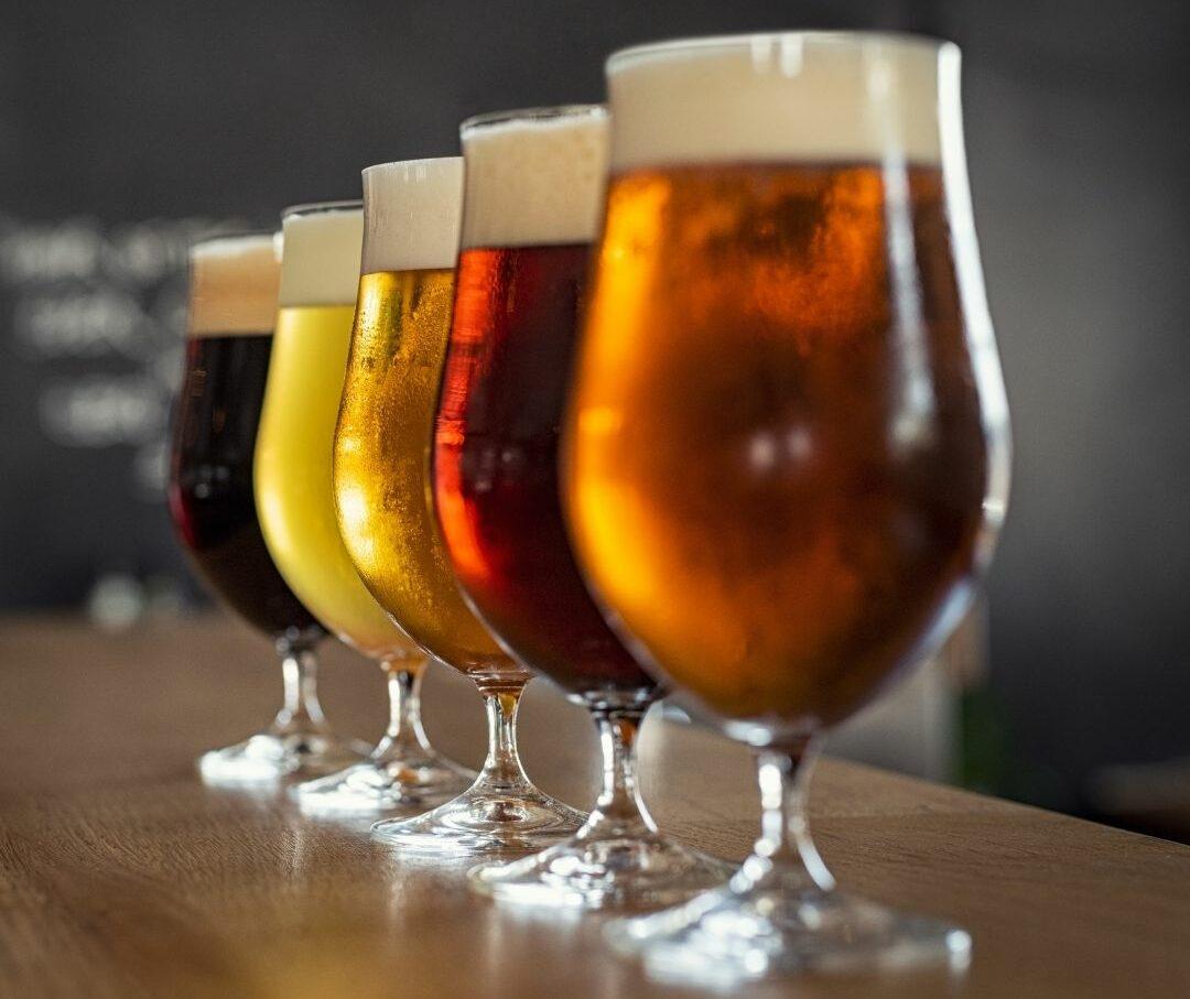 bier op een rij